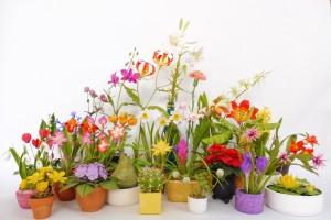 31 agyagvirág, melynek készítése megtanulható a CsodavirágMűhelyben